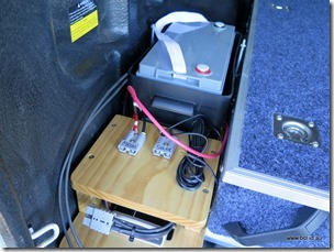 Aux Car Battery during construction
