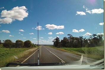 On the road to Charleville