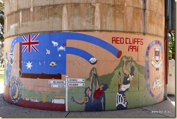 Red Cliffs Water Tower Mural